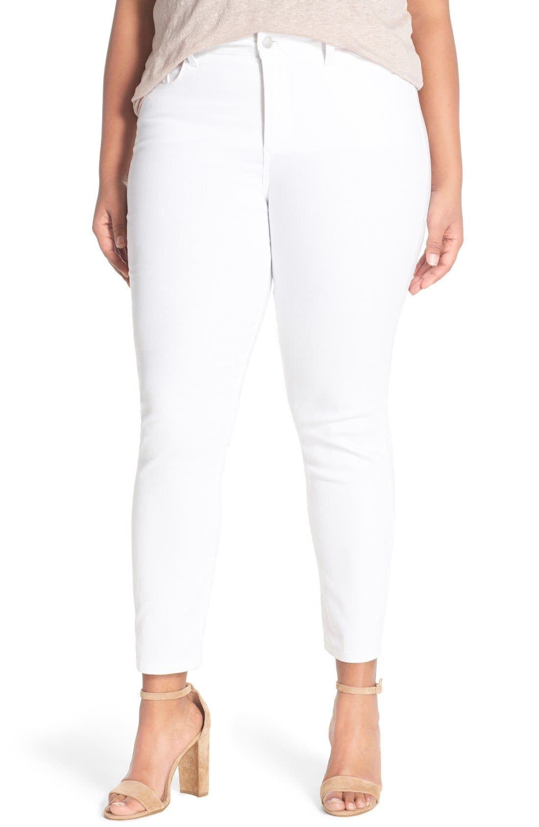 Alternate Image 1 Selected - NYDJ 'Clarissa' Stretch Slim Ankle Jeans (Plus Size)
