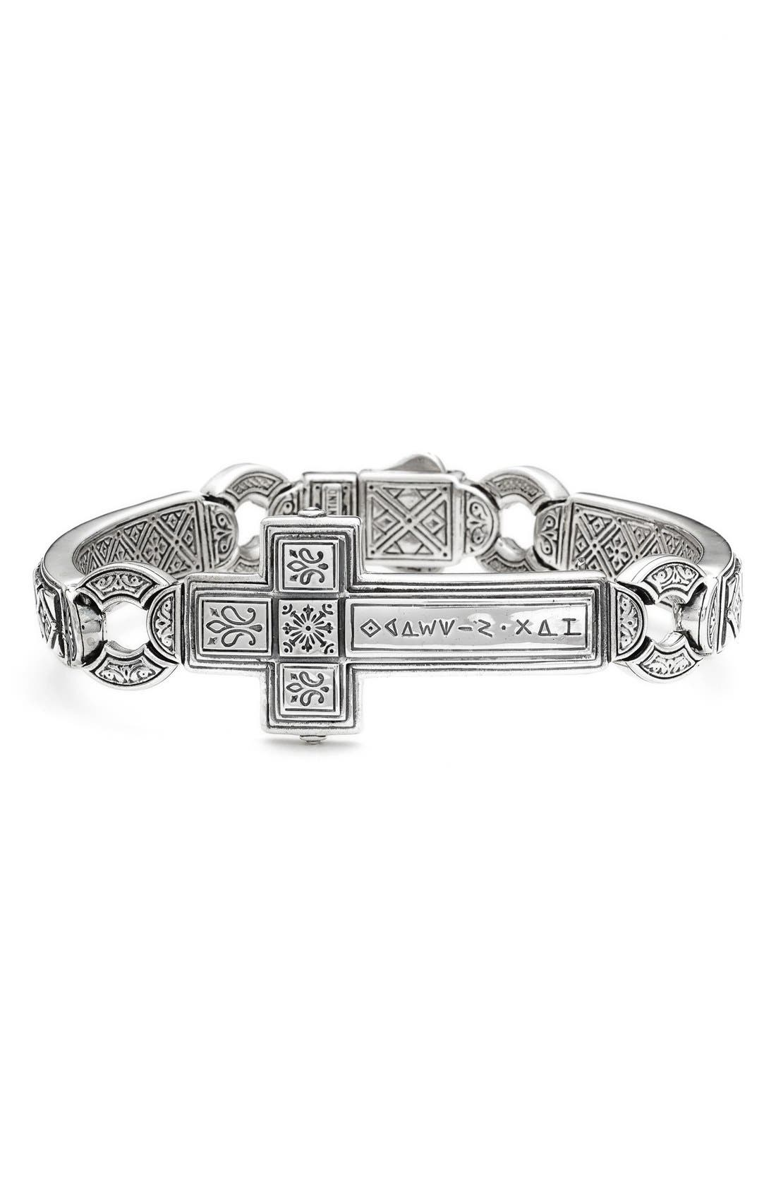 KONSTANTINO Silver Classics Metal Cross Bracelet