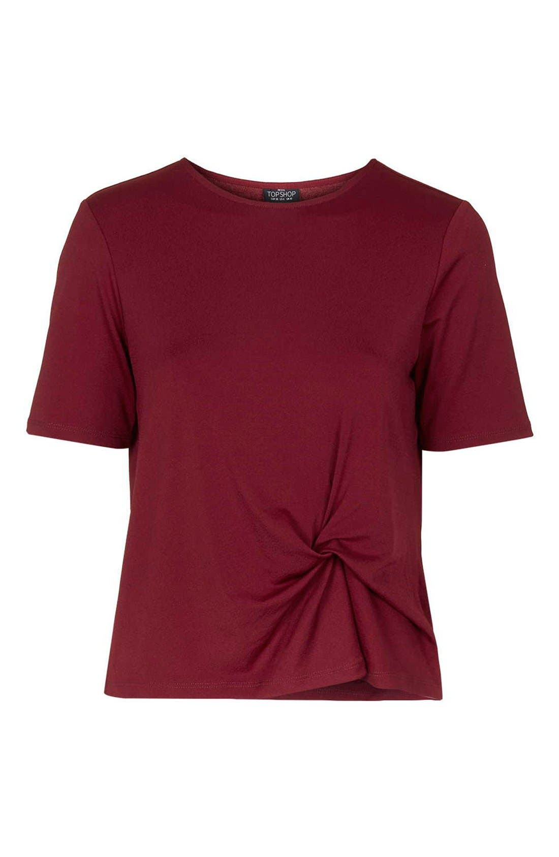 Alternate Image 4  - Topshop Twist Front Tee (Petite)