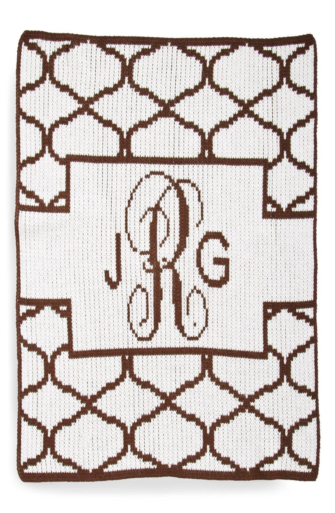 Lattice Personalized Blanket,                         Main,                         color, White/ Brown