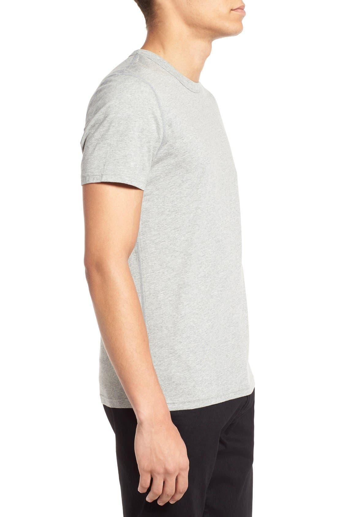 Short Sleeve Crewneck T-Shirt,                             Alternate thumbnail 2, color,                             Heather Grey