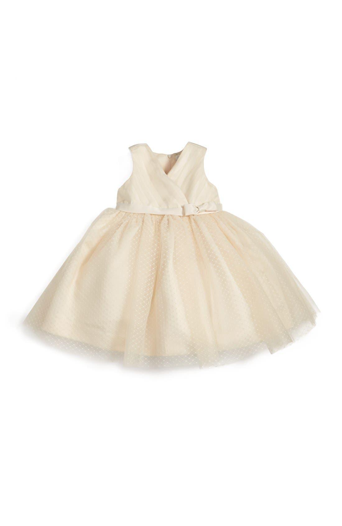 Main Image - Us Angels Satin & Tulle Dress (Baby Girls)