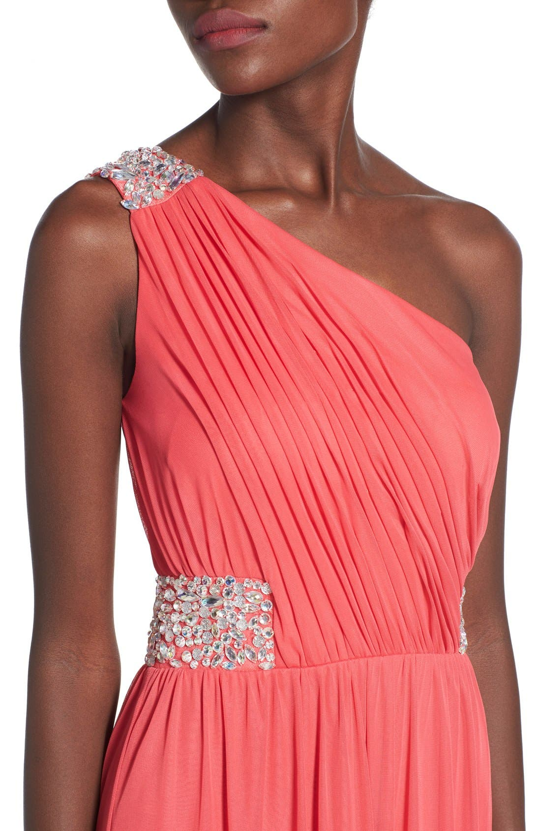 Alternate Image 4  - Speechless 'Shelby' Embellished One Shoulder Gown