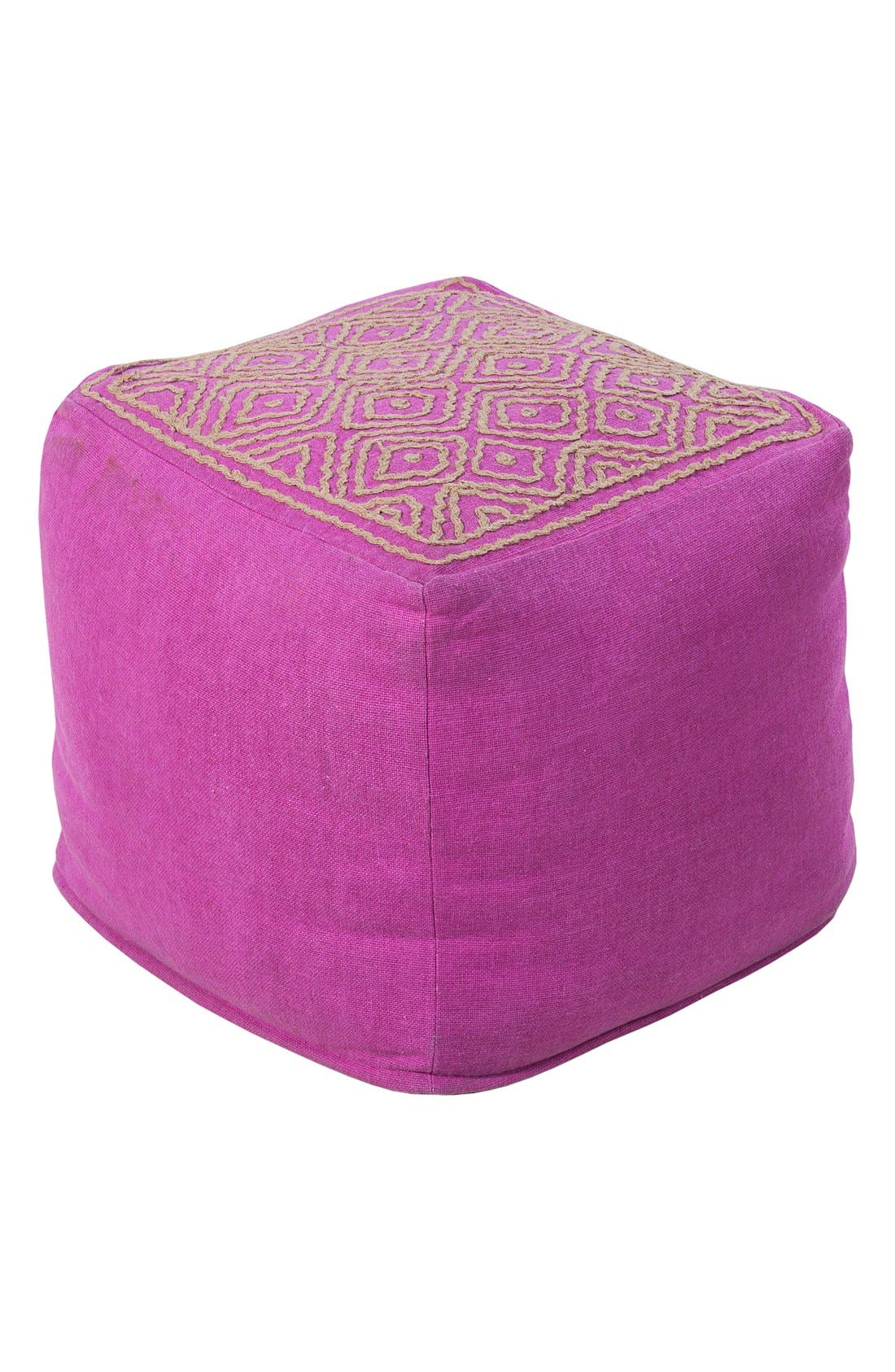 Alternate Image 1 Selected - Surya Home 'Atlas' Pouf