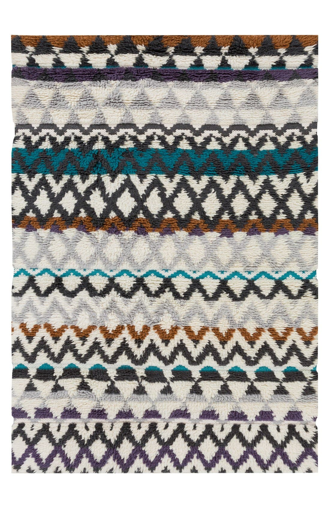 'Atticus' Hand Woven Wool Rug,                         Main,                         color, Violet/ Charcoal Multi