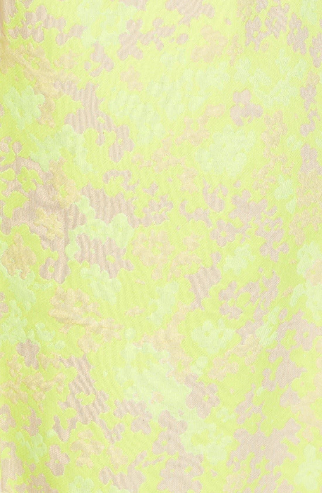 Alternate Image 3  - Lela Rose Floral Jacquard Sheath Dress