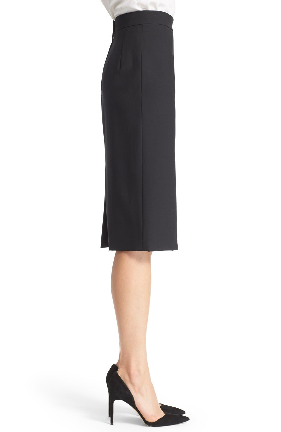 Alternate Image 4  - Dolce&Gabbana Stretch Wool Pencil Skirt