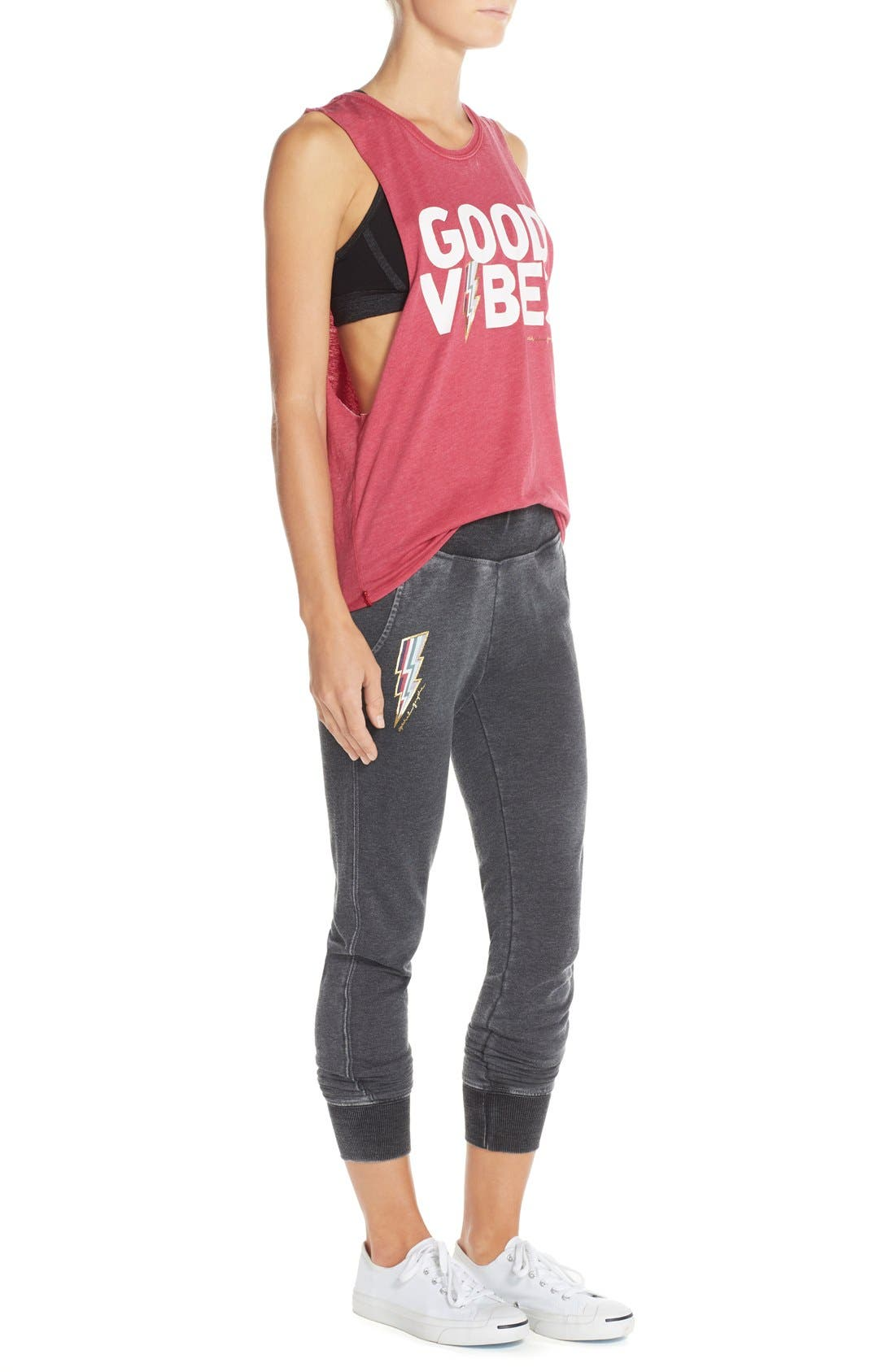 'Good Vibes' Muscle Tank,                             Alternate thumbnail 5, color,                             Popsicle
