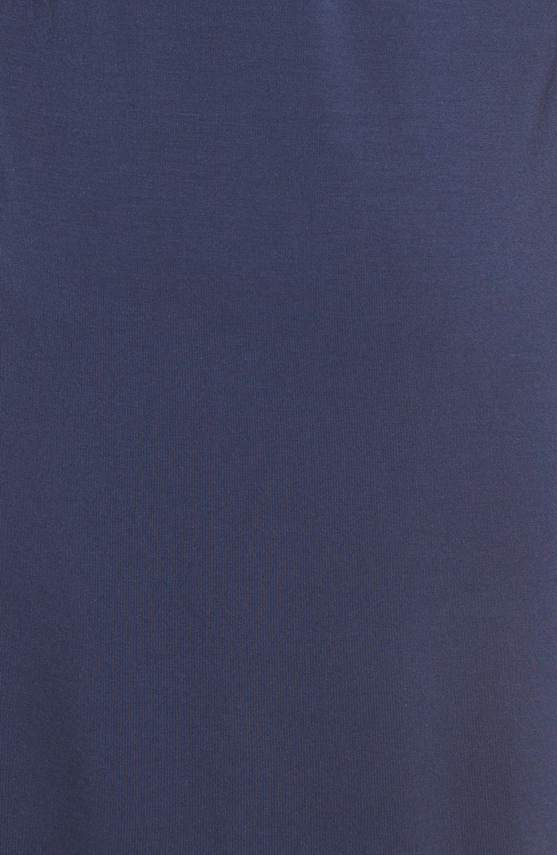 'Rhiannon' Turtleneck Fit & Flare Maternity Dress,                             Alternate thumbnail 5, color,                             Peacoat