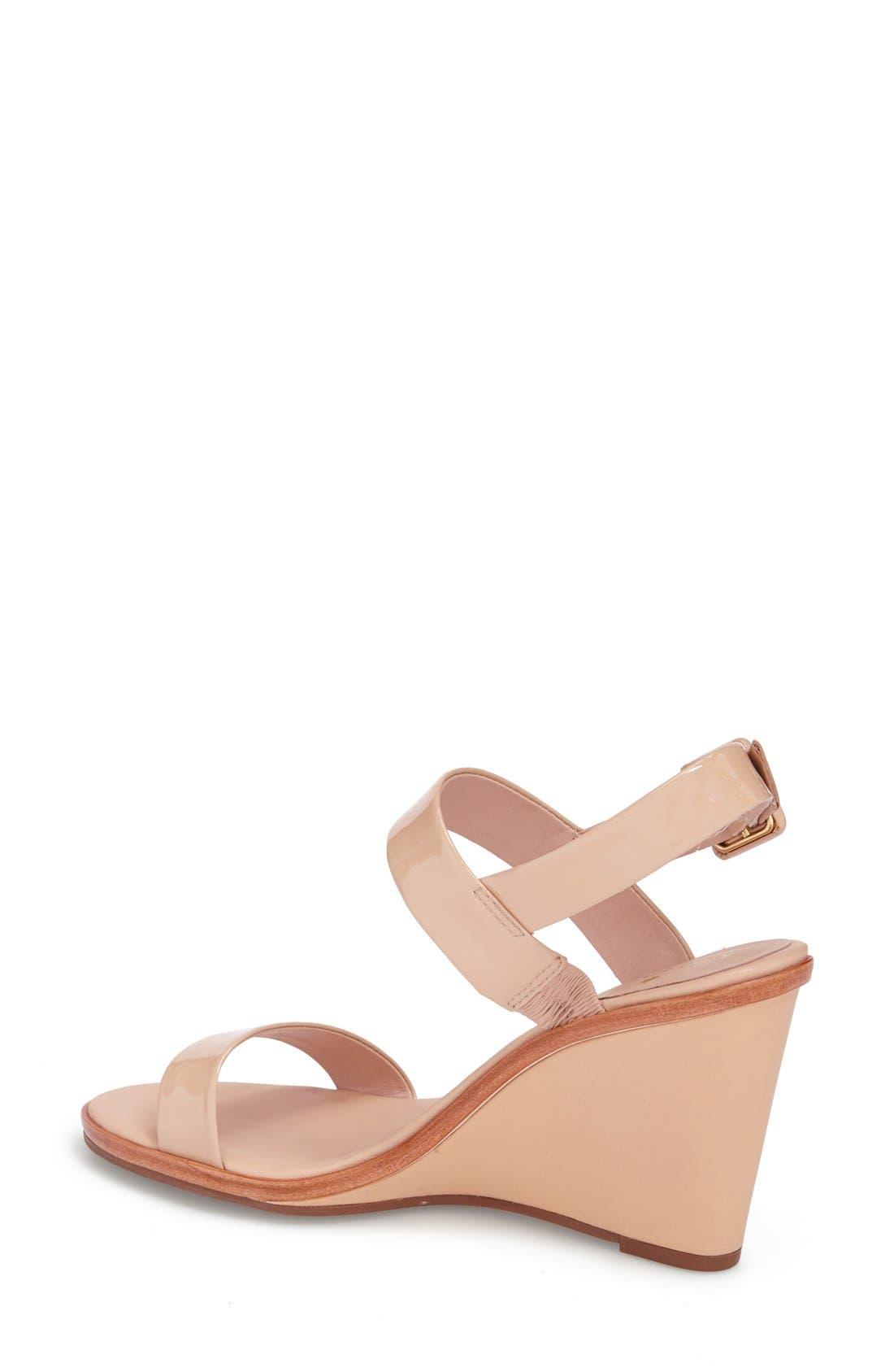 'nice' sandal,                             Alternate thumbnail 2, color,                             Nude Patent