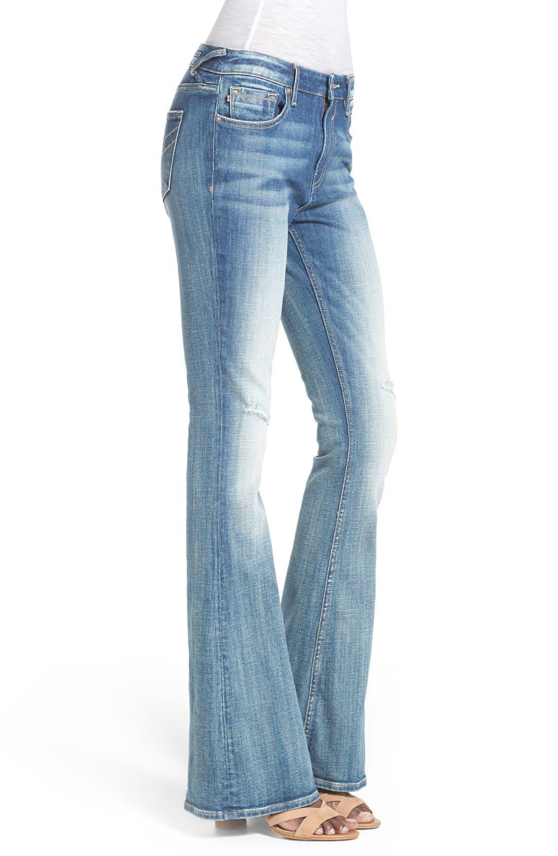 Alternate Image 3  - Vigoss 'Chelsea' Flare Jeans (Medium Wash)