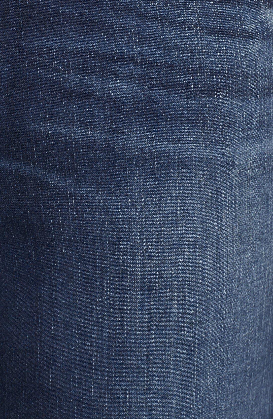 A Gold E 'Sophie' Crop Jeans,                             Alternate thumbnail 5, color,                             Claremont (Med Wash)
