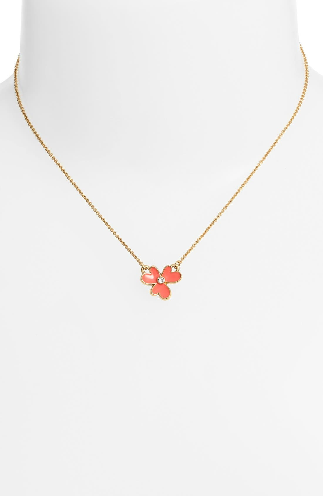 Alternate Image 2  - kate spade new york 'pansy blossoms' clover pendant necklace