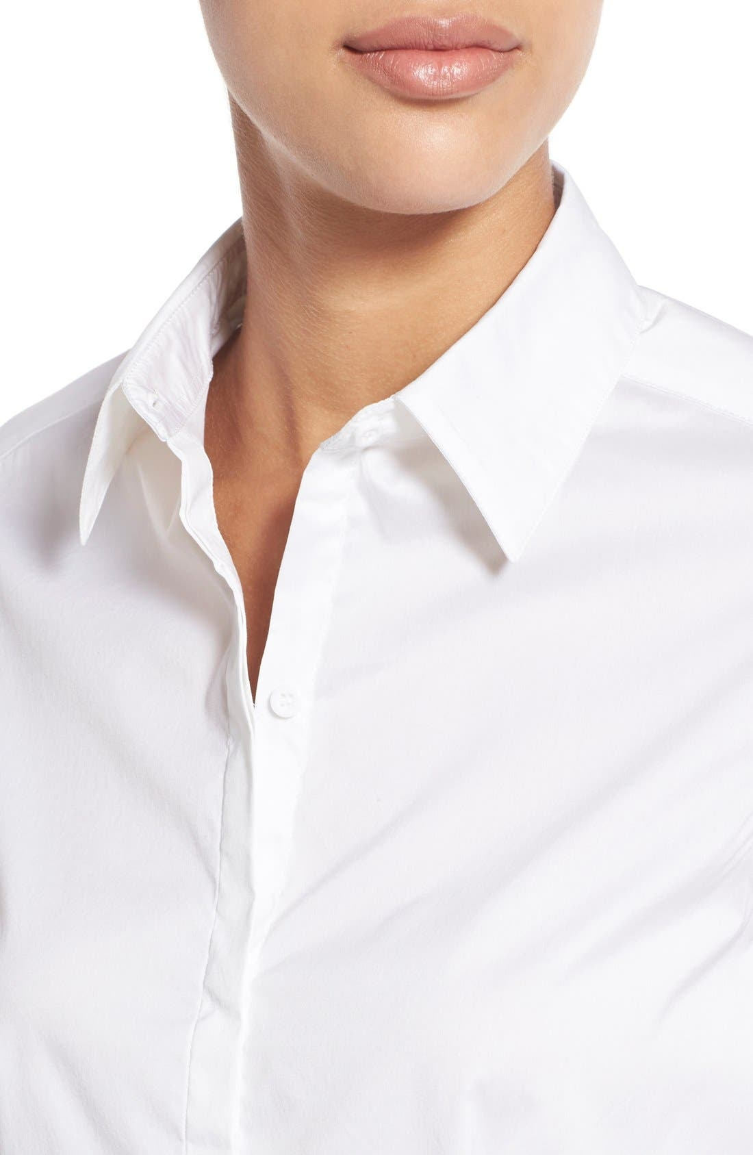 Alternate Image 4  - Ming Wang Stretch Poplin Shirt