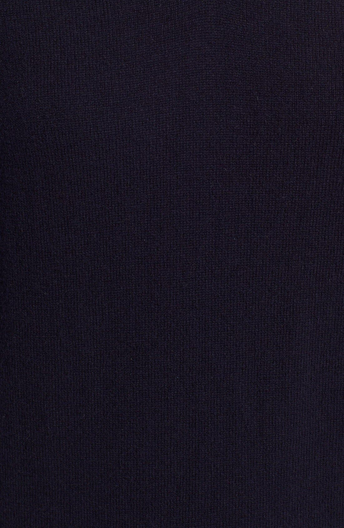 Comme des Garçons 'Play' Wool V-Neck Pullover,                             Alternate thumbnail 5, color,                             Navy