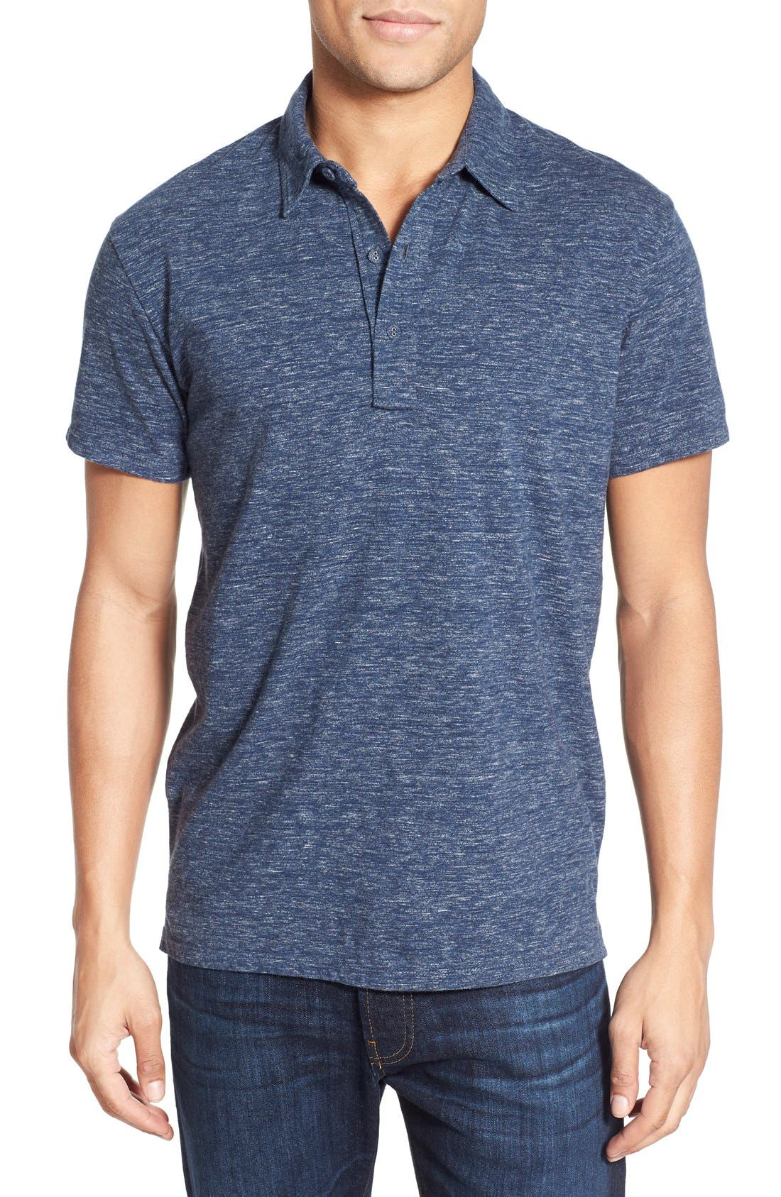 Grayers Nepped Slub Jersey Polo