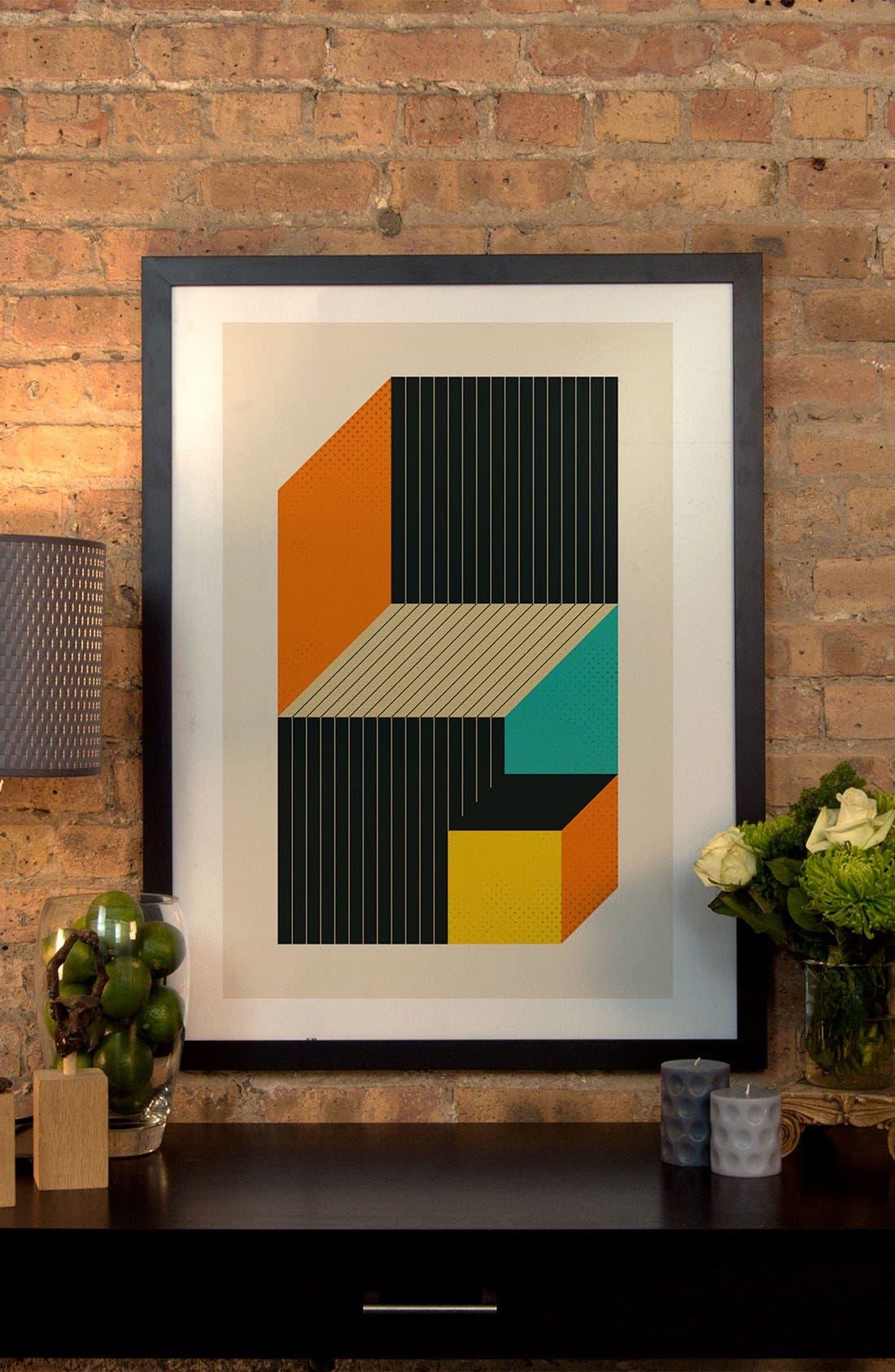 Alternate Image 2  - iCanvas 'Cubes VI' Framed Fine Art Print
