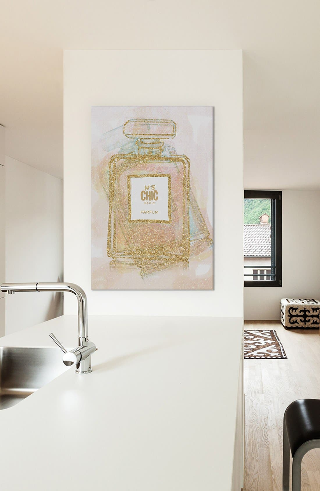 Alternate Image 2  - iCanvas 'Chic Bottle I' Giclée Print Canvas Art