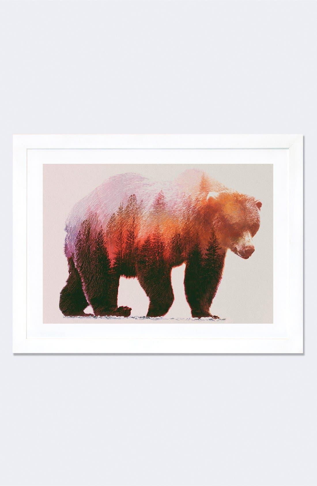 'Brown Bear' Giclée Print Framed Canvas Art,                         Main,                         color, Brown