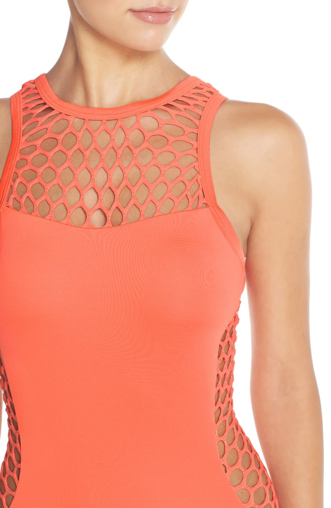 Alternate Image 4  - Seafolly 'Mesh About' High Neck One-Piece Swimsuit