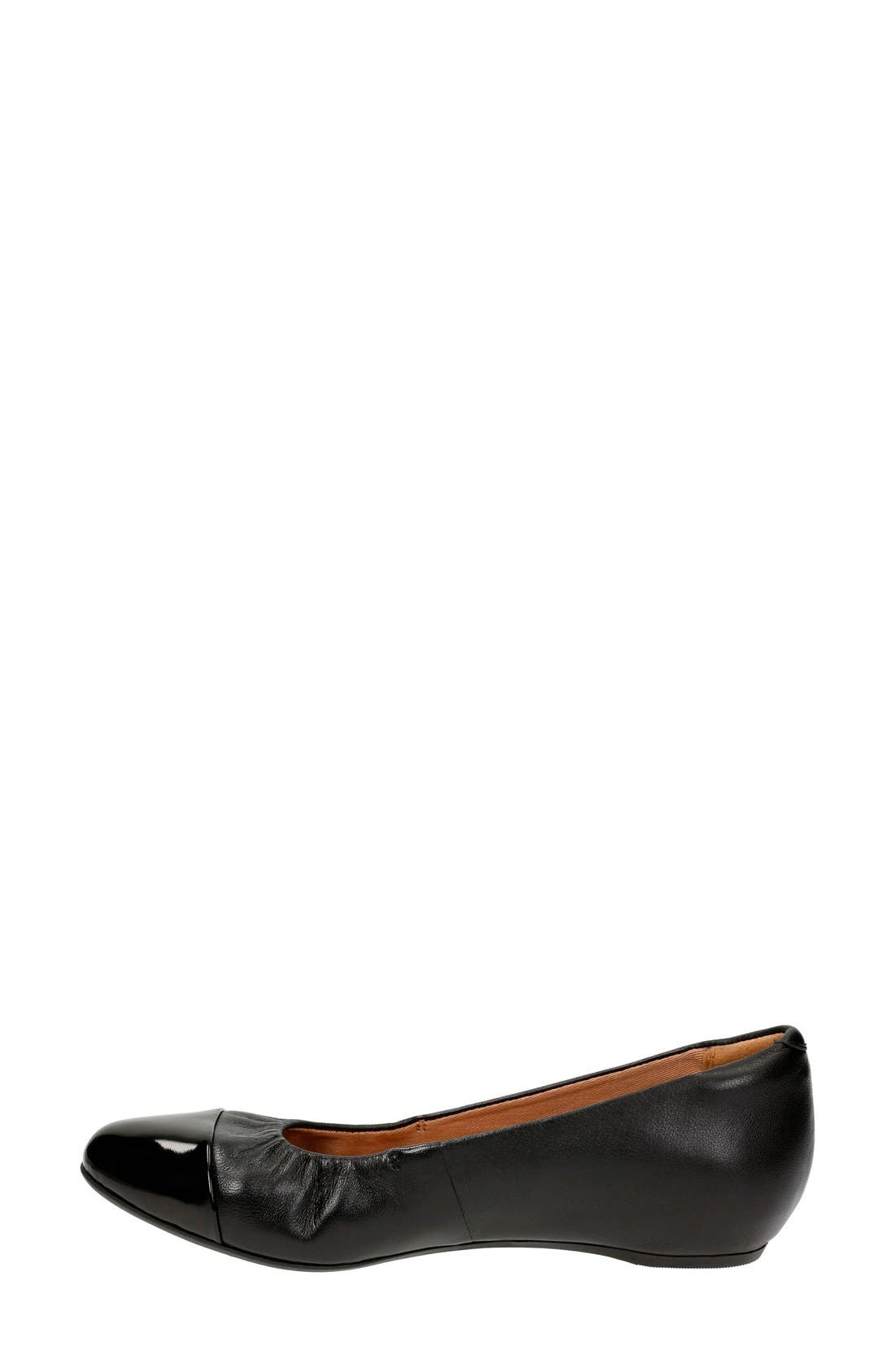 Alternate Image 2  - Clarks® 'Alitay Susan' Cap Toe Flat (Women)