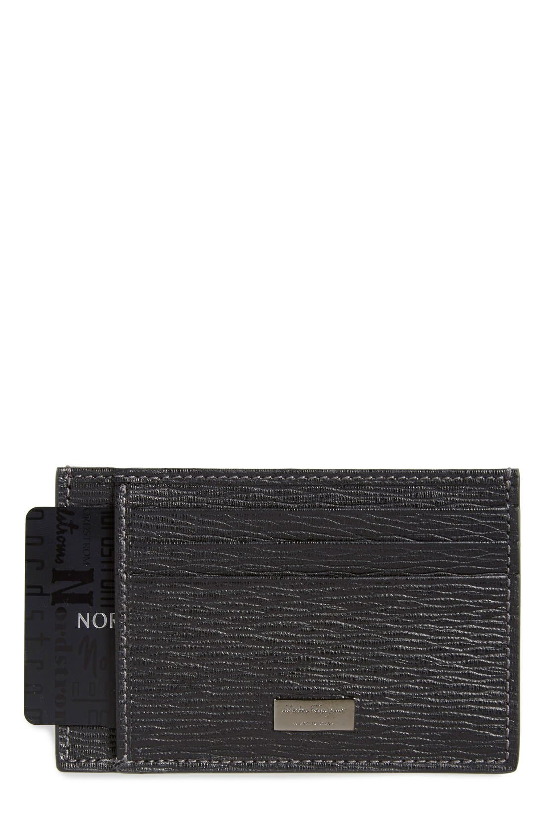 Card Case,                             Main thumbnail 1, color,                             Black