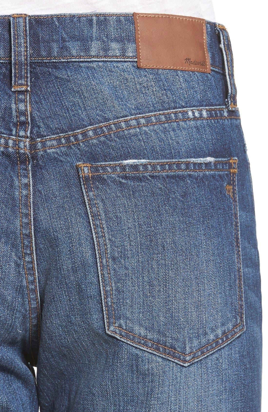 Alternate Image 4  - Madewell Crop Straight Leg Jeans (Preston)