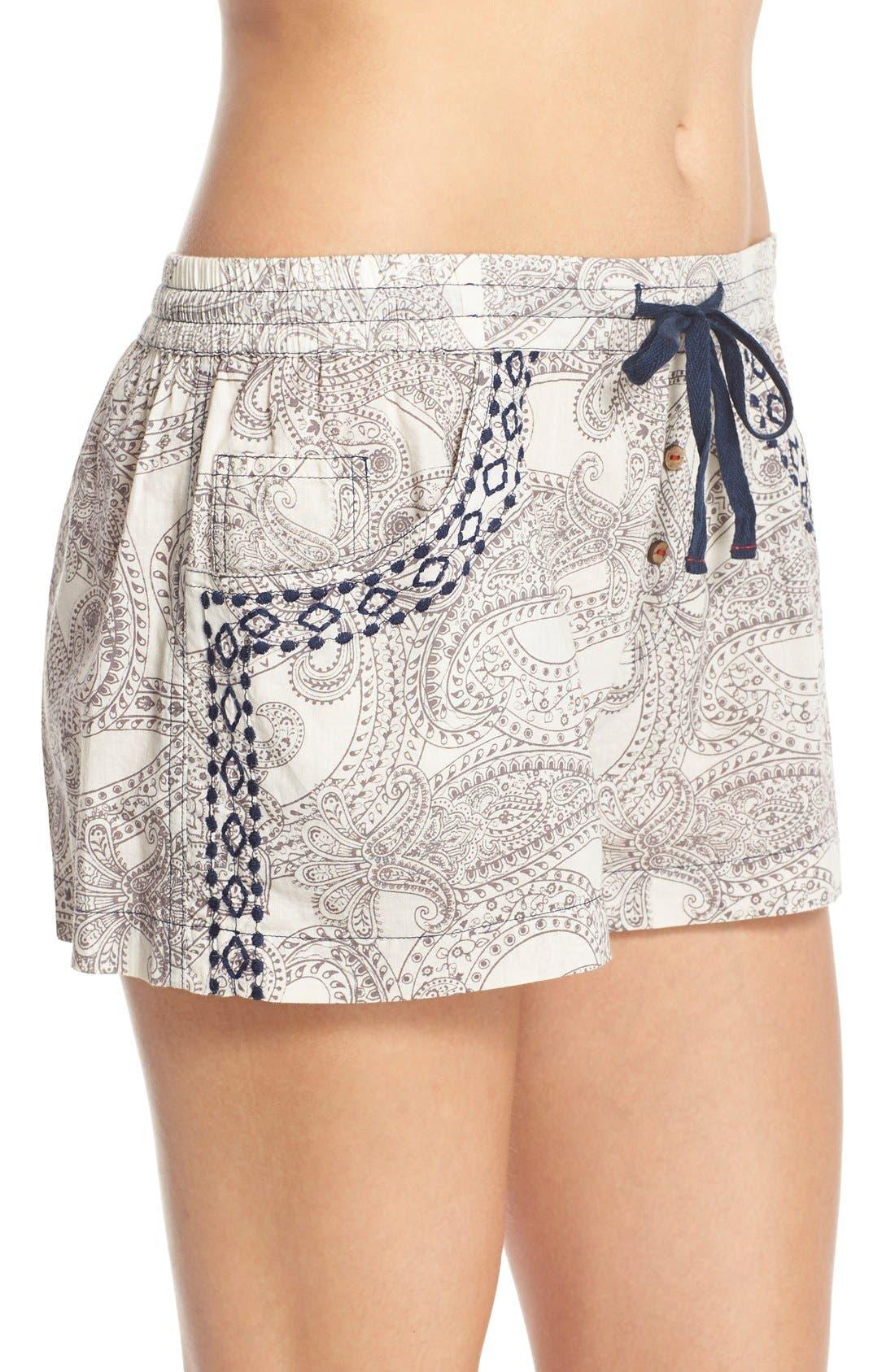Alternate Image 3  - Lucky Brand Print Cotton Lounge Shorts