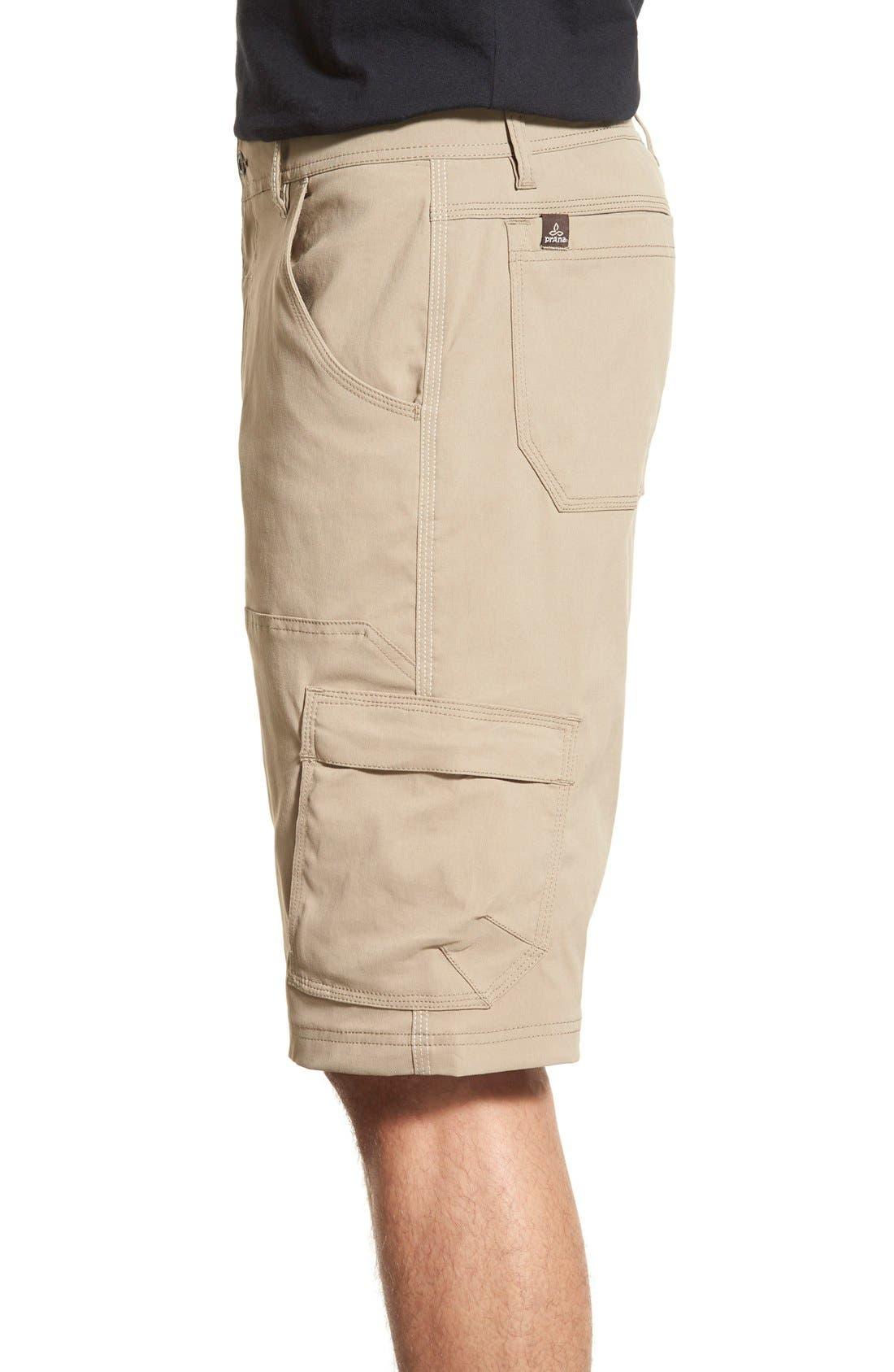 Zion Stretch Shorts,                             Alternate thumbnail 3, color,                             Dark Khaki