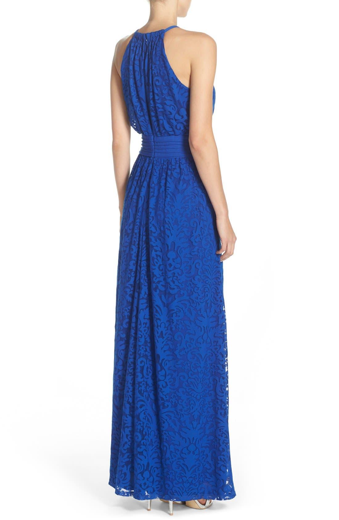 Alternate Image 2  - Maggy London Lace Halter Maxi Dress