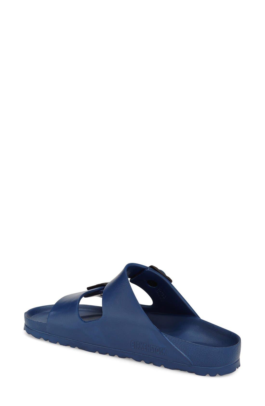 Essentials - Arizona Slide Sandal,                             Alternate thumbnail 2, color,                             Navy Eva