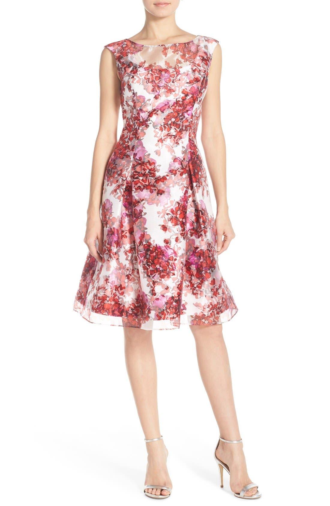 Alternate Image 6  - Aidan Mattox Organza Overlay Fit & Flare Dress