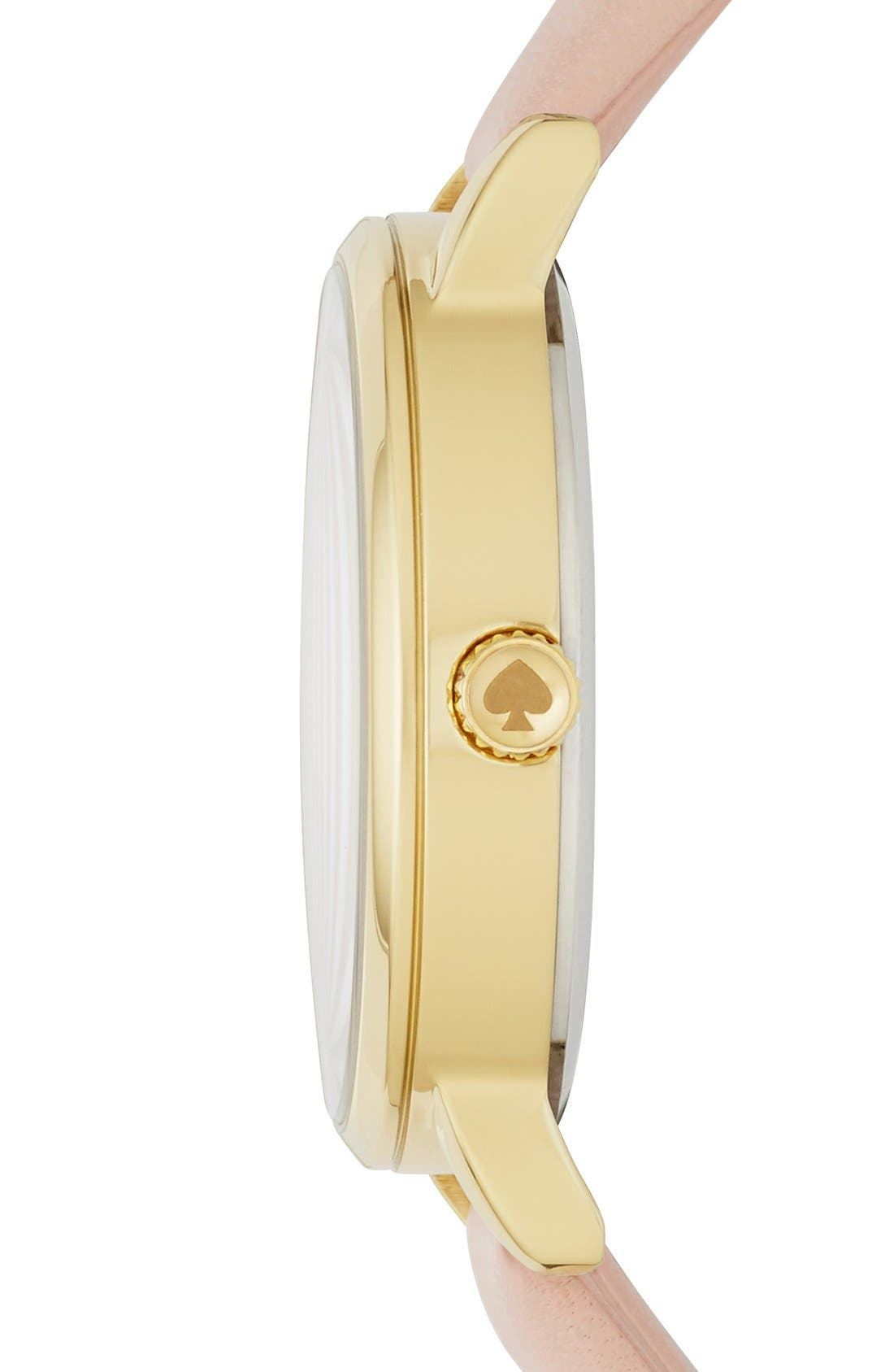 Alternate Image 2  - kate spade new york 'metro - honeybee' leather strap watch, 34mm