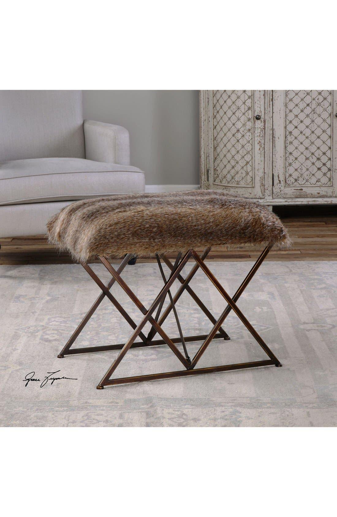 Alternate Image 2  - Uttermost 'Brannen' Faux Fur Bench