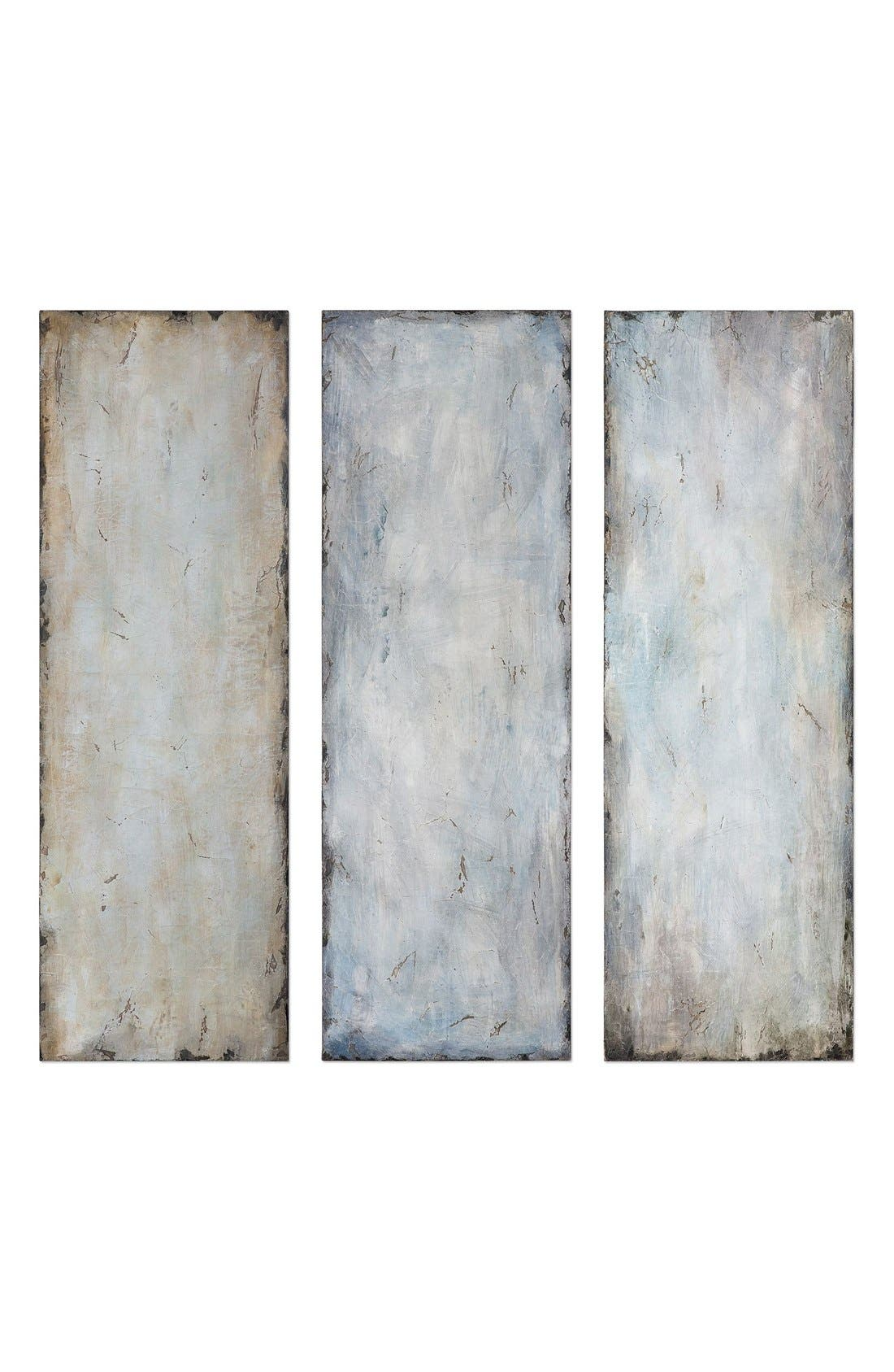 'Textured Trio' Abstract Wall Art,                         Main,                         color, Blue