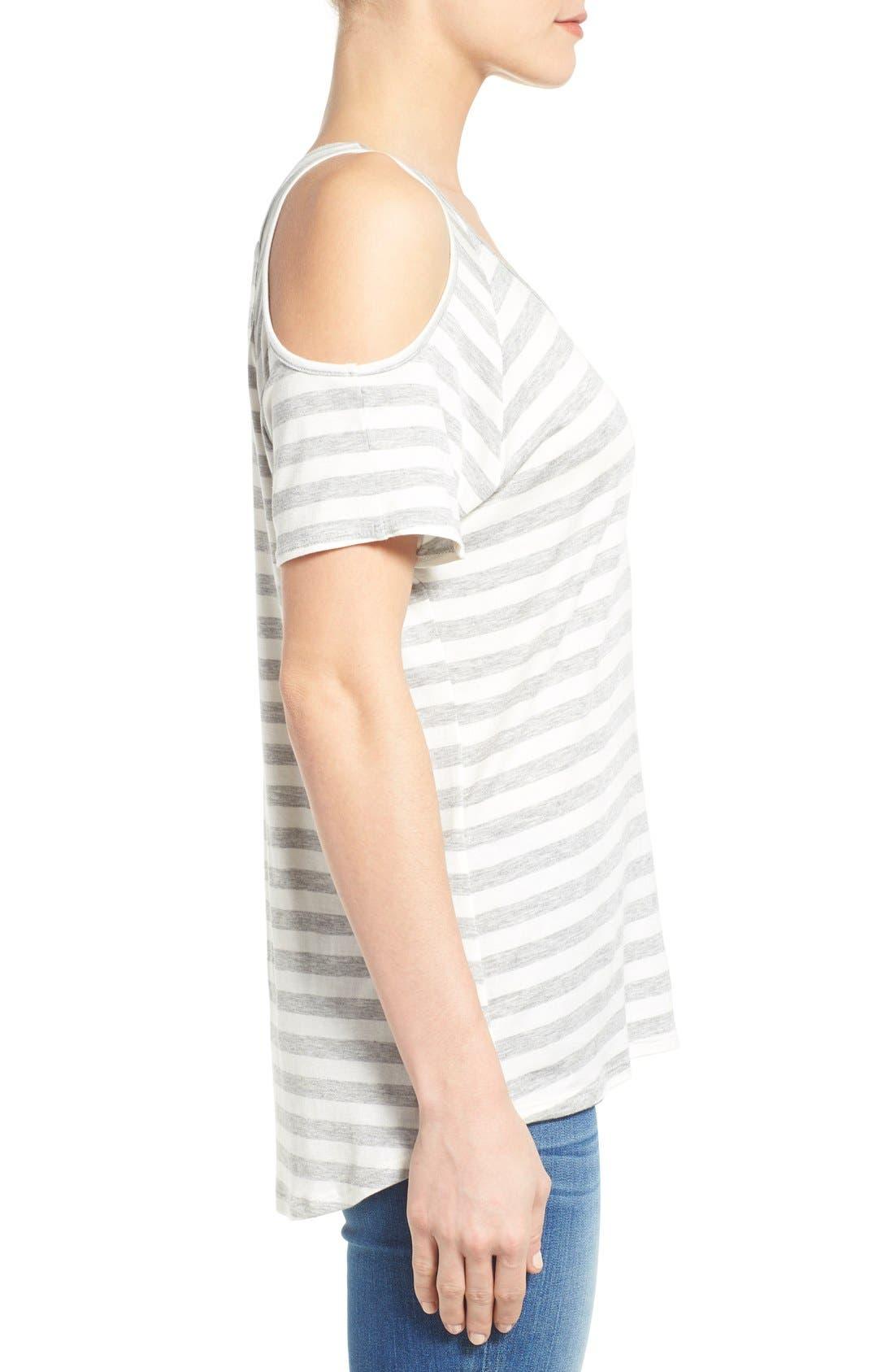 Alternate Image 3  - KUT from the Kloth 'Caroline' Cold Shoulder Stripe Top