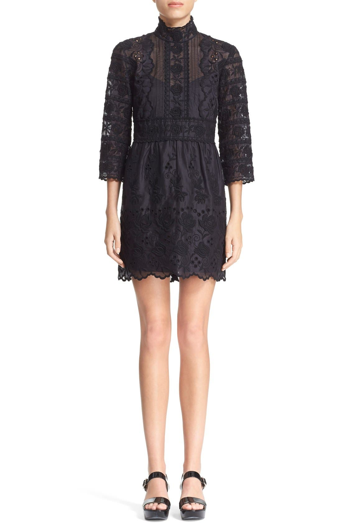 Main Image - MARC JACOBS Broderie Anglaise Cotton Voile Dress
