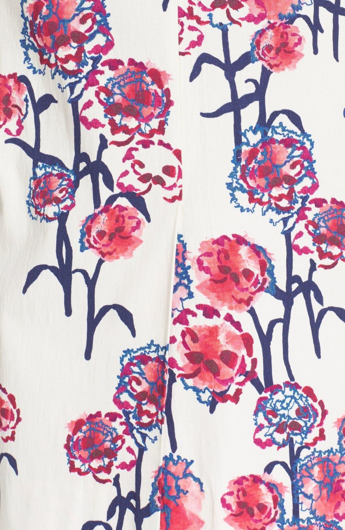Alternate Image 5  - Tanya Taylor Textured Garden Print Pencil Skirt