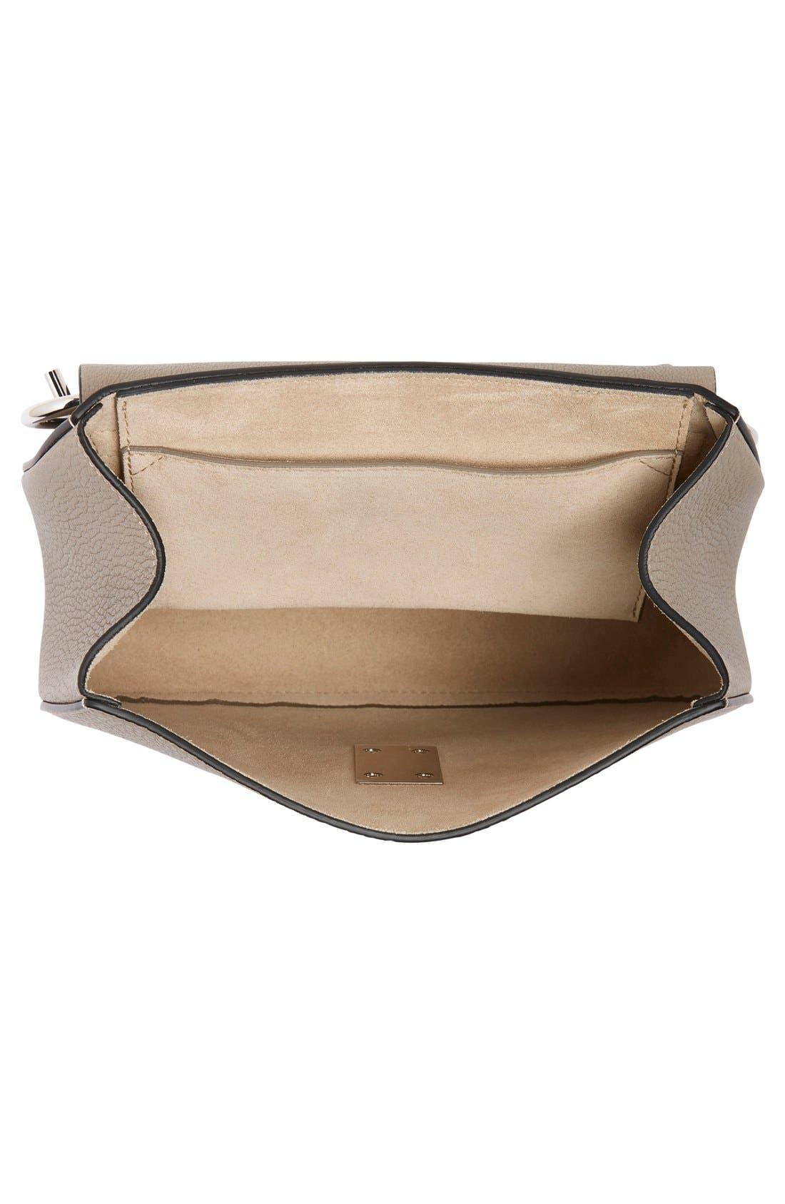 'Small Drew' Leather Shoulder Bag,                             Alternate thumbnail 4, color,                             Motty Grey
