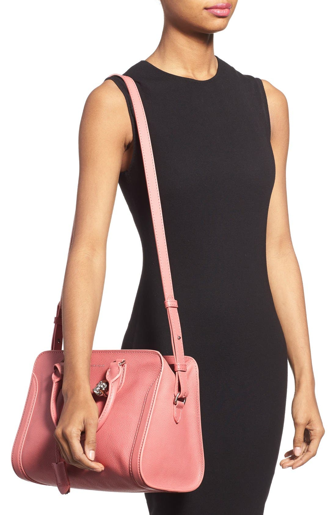 Alternate Image 2  - Alexander McQueen 'Small Padlock' Leather Duffel Bag
