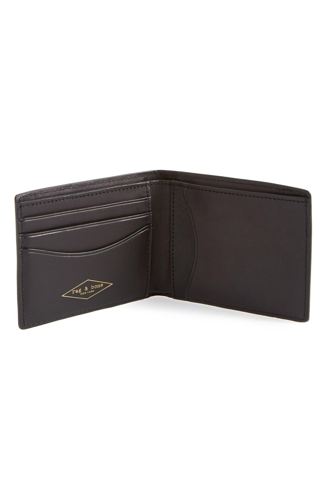 Alternate Image 2  - rag & bone Hampshire Leather Bifold Wallet