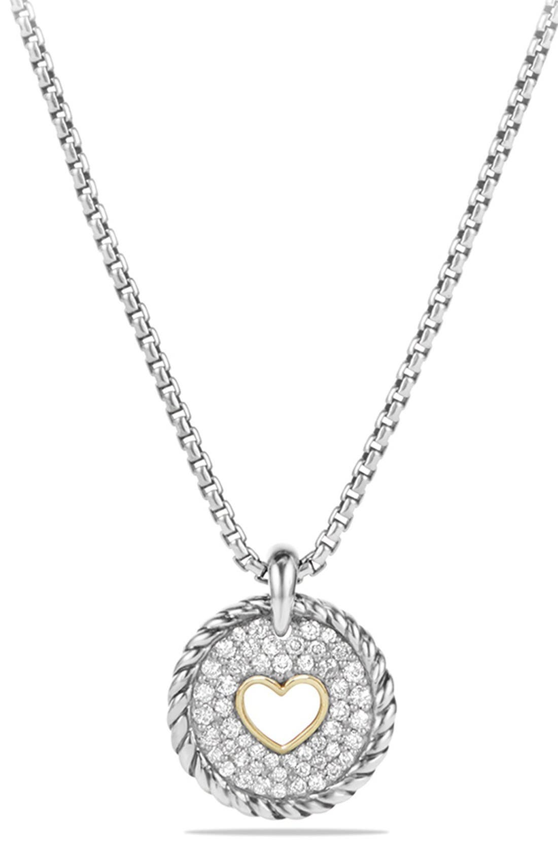 Alternate Image 1 Selected - David Yurman 'Cable Collectibles' Heart Charm with Diamonds