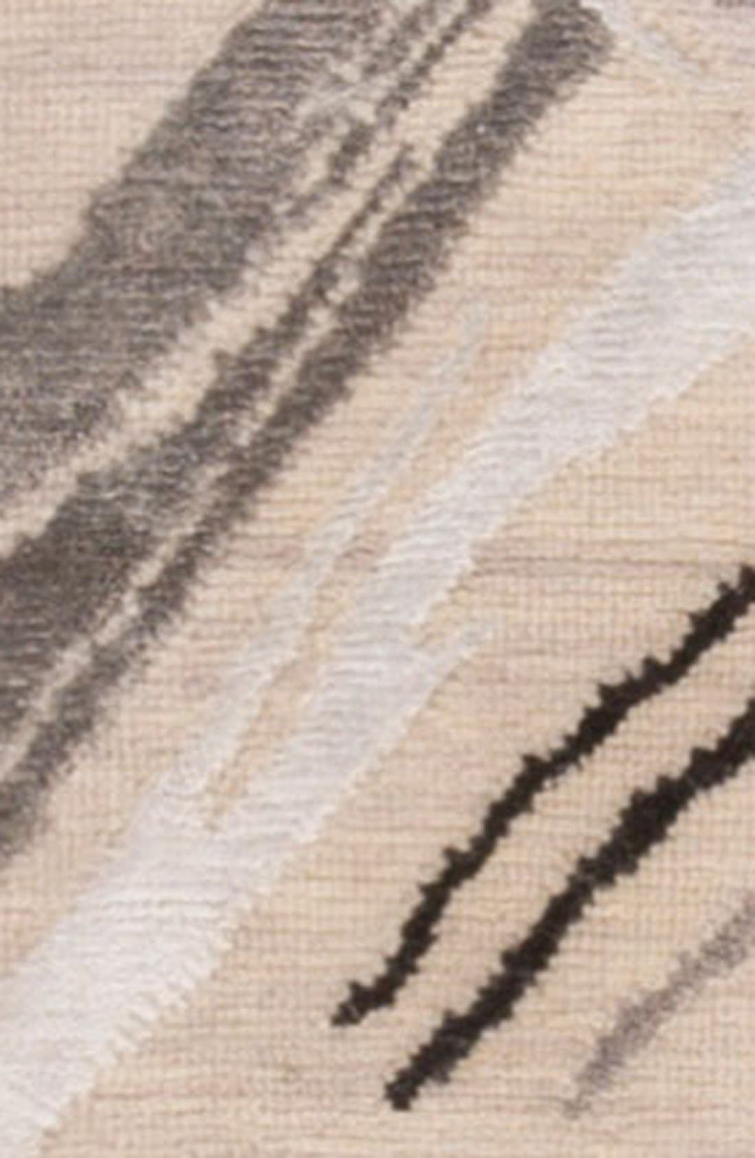 'noho' abstract wool blend rug,                             Alternate thumbnail 4, color,                             Ivory/ Grey