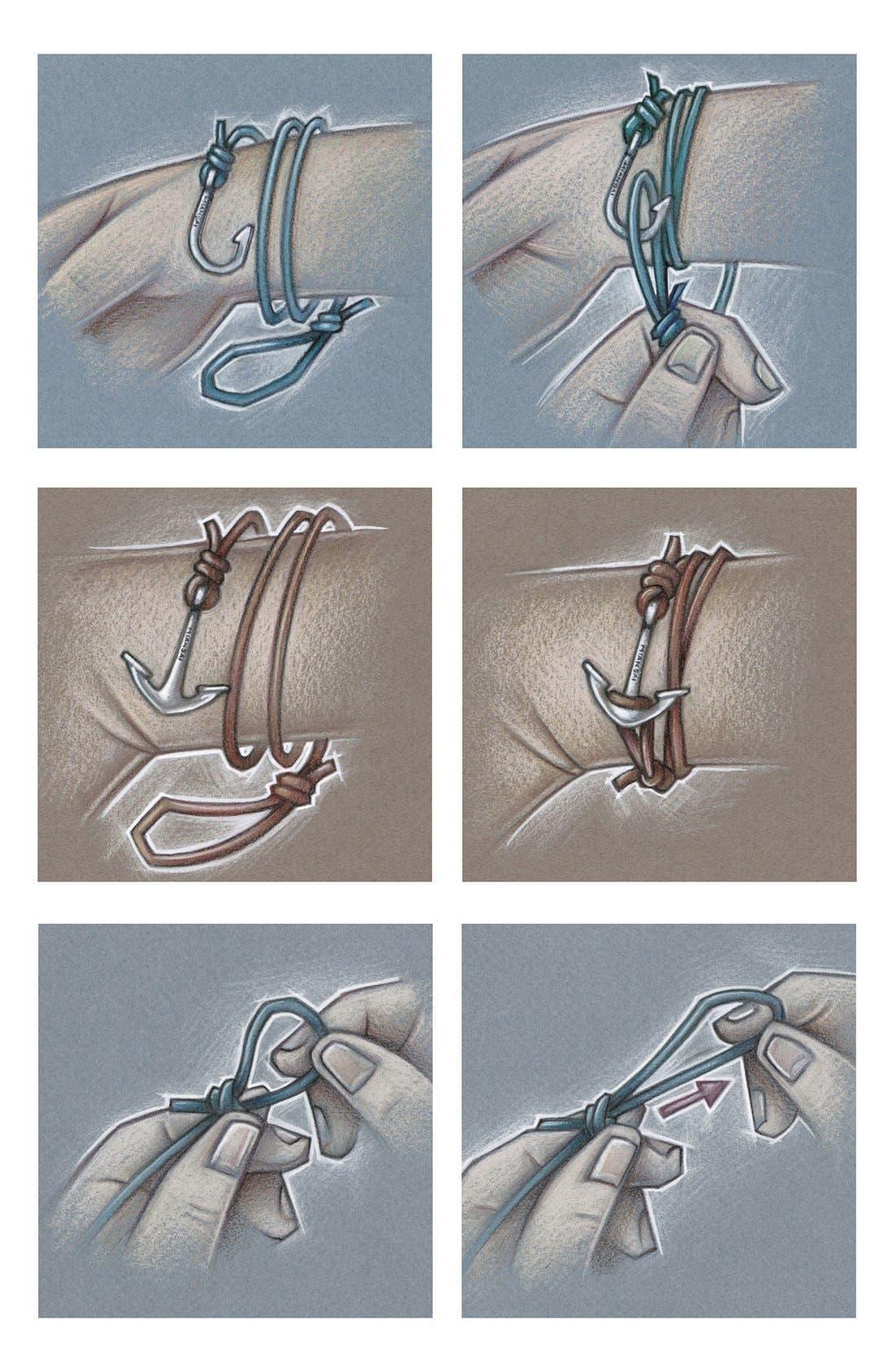 Alternate Image 2  - Miansai Half Cuff Anchor Leather Wrap Bracelet