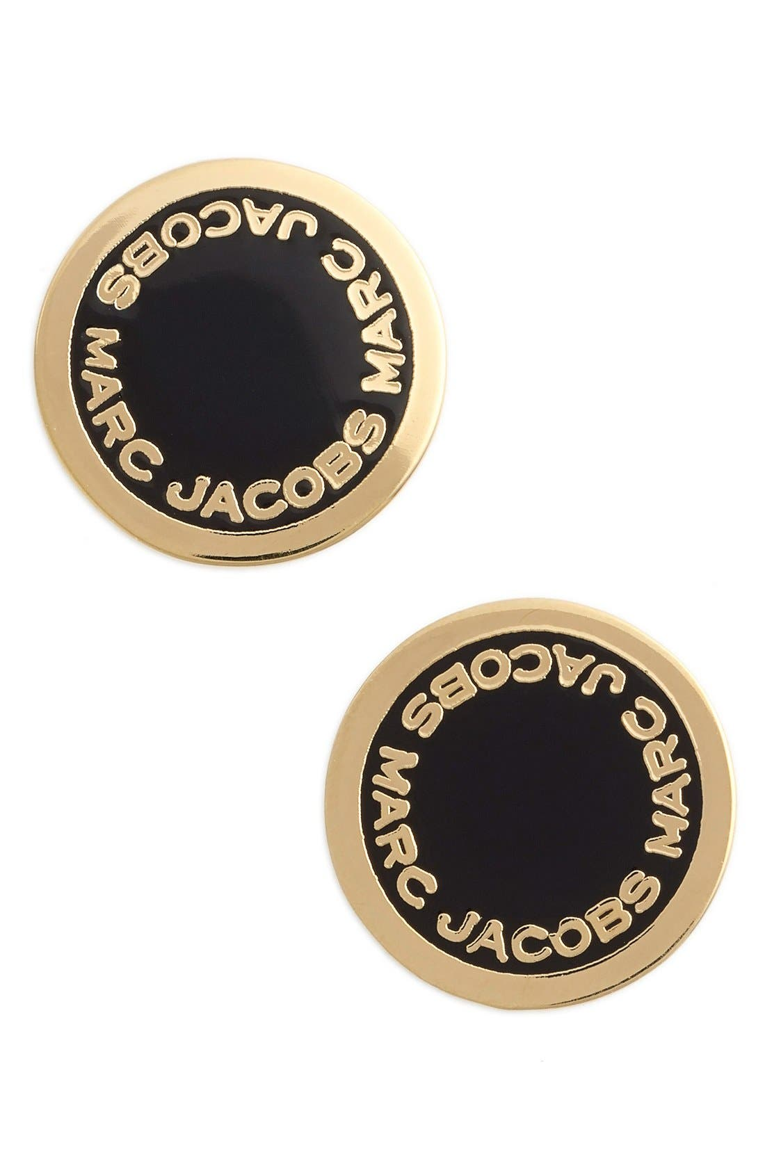 Alternate Image 1 Selected - MARC JACOBS Logo Disc Stud Earrings