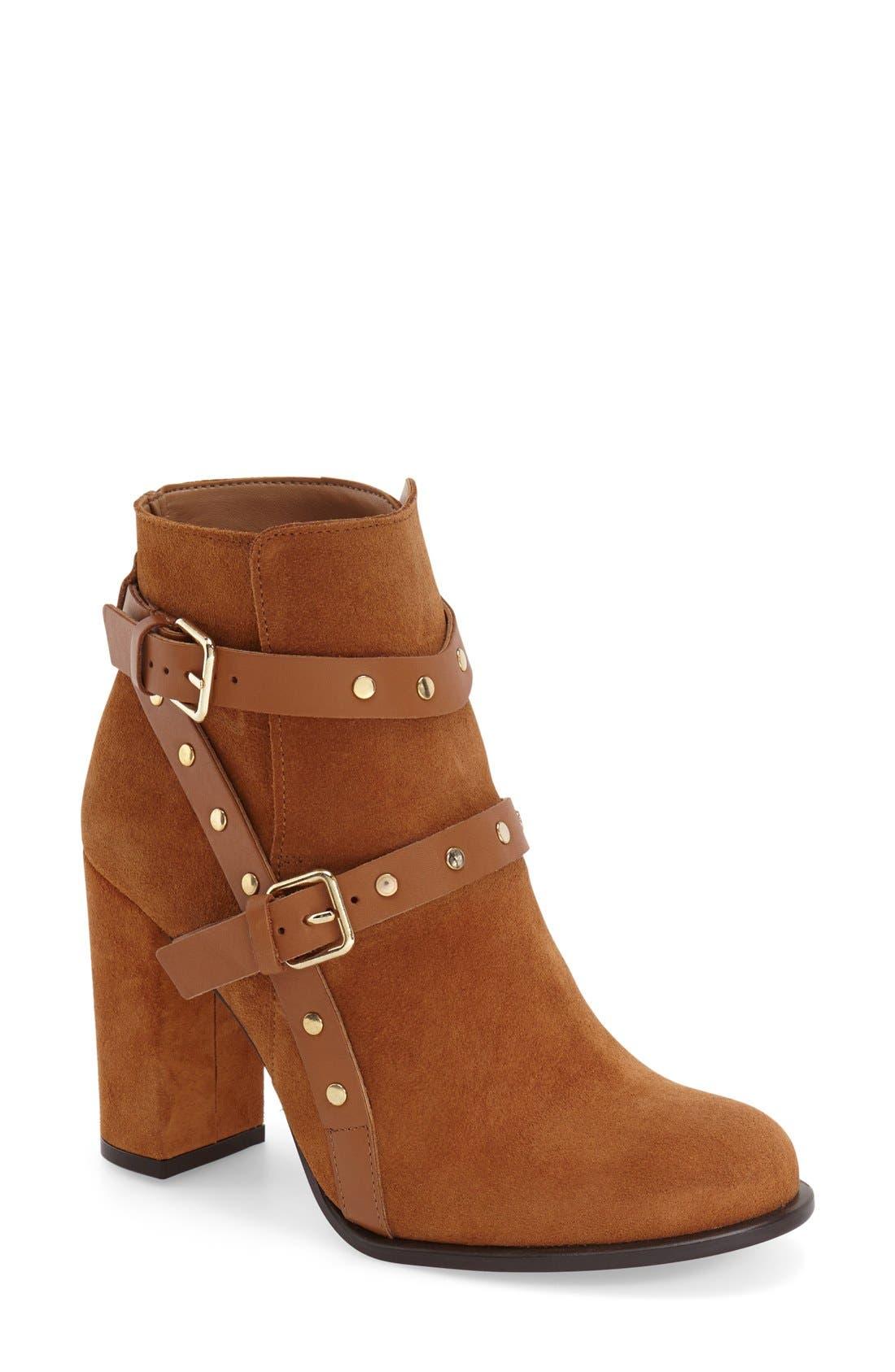 Alternate Image 1 Selected - Topshop 'Harriett' Stud Strap Boot (Women)