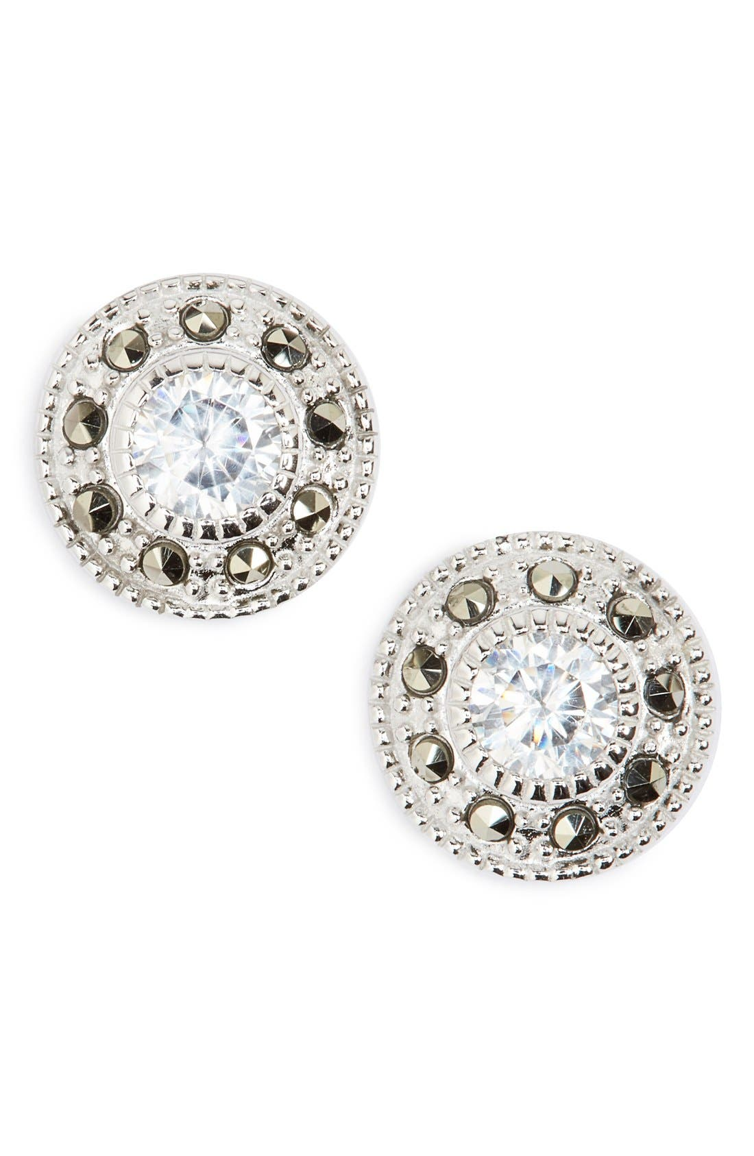JUDITH JACK Pavé Stud Earrings