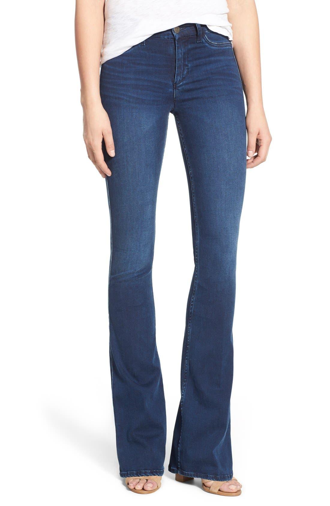 Main Image - M.i.h. Jeans 'Superfit Marrakesh' Flare Jeans (Circle Blue)