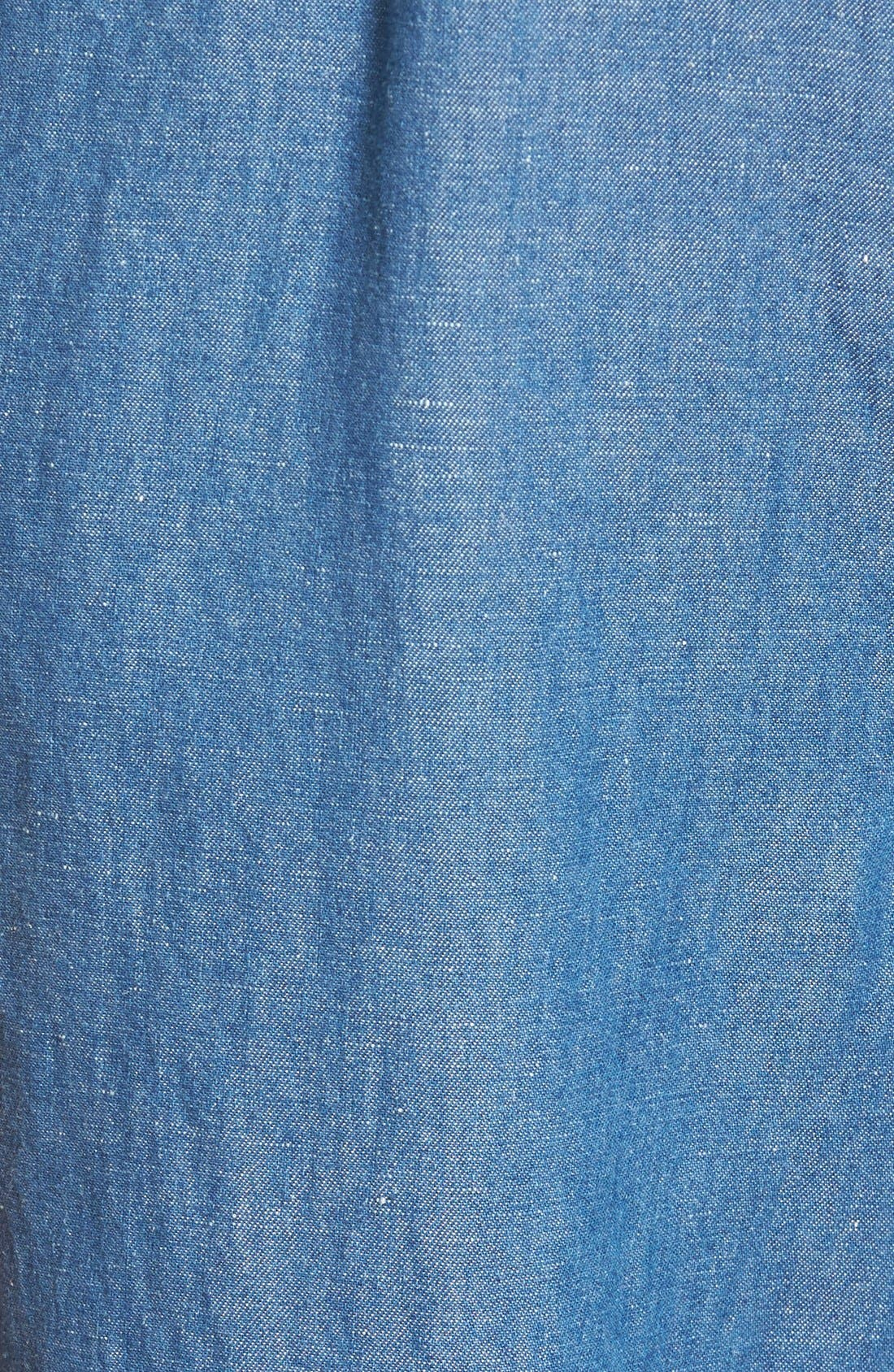 Alternate Image 5  - Madewell 'Muralist' Crop Chambray Jumpsuit