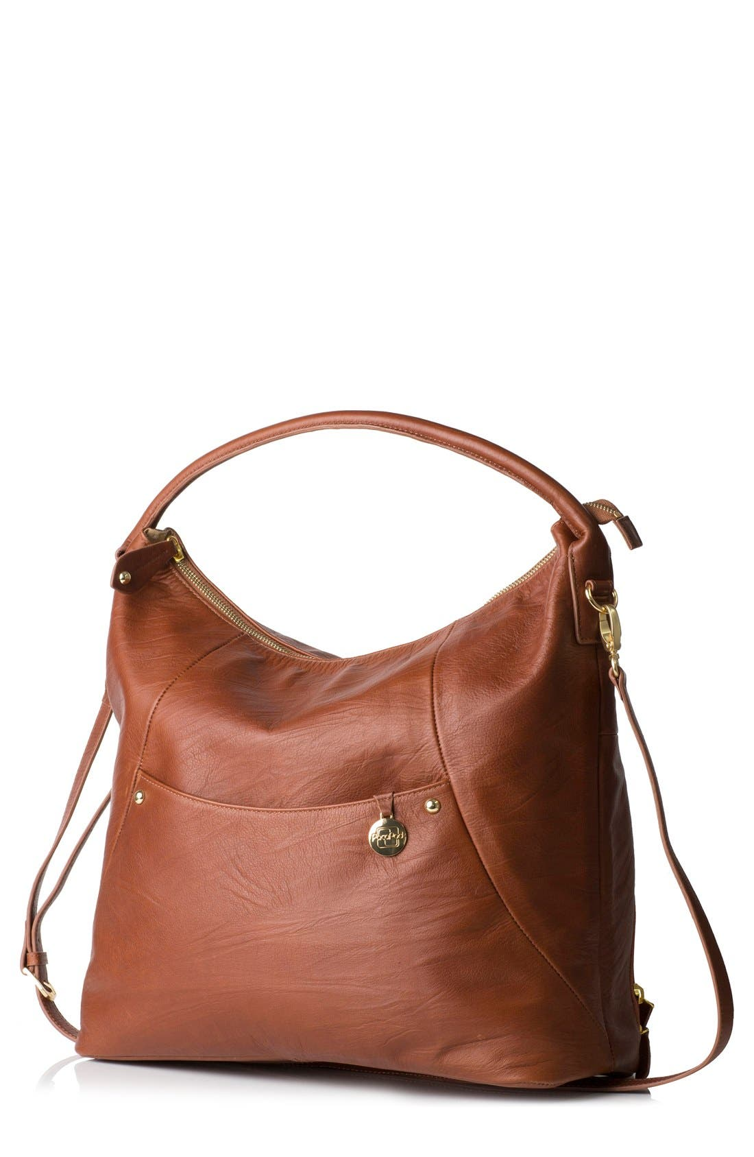 PacaPod 'Jasper' Leather Diaper Bag